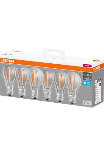 6x Żarówka LED E27 6,5W = 60W 806lm OSRAM 4000K