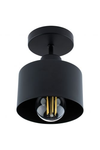 Lampa sufitowa TRAGULA czarna loft do LED 1xE27 LUMILED