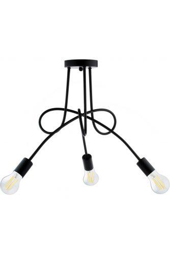Lampa sufitowa NODUM SKRĘT czarny do LED 3x E27 LUMILED