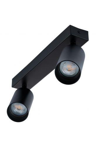 Lampa sufitowa TABULA SPOT reflektor oprawa halogenowa skośna do LED 2x GU10 LUMILED