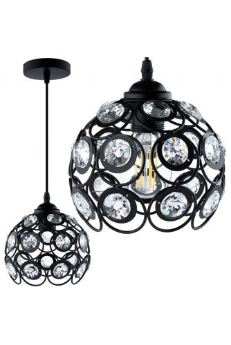 Lampa wisząca CRYSTAL ZWIS druciana DIAMENT do LED 1xE27 LUMILED