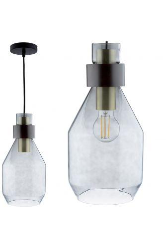 Lampa wisząca UMBRA ZWIS ciemne szkło do LED 1xE27 LUMILED