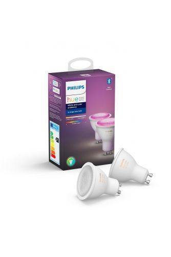 Philips HUE White and Color Ambiance Żarówka LED GU10 2PAK Bluetooth Zigbee 8718699629250