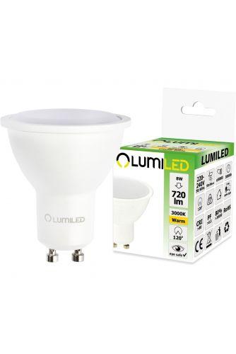 Żarówka LED GU10 8W = 70W 720lm 3000K Ciepła 120° LUMILED