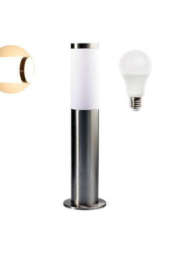 Lampa Ogrodowa LED Słupek E27 TUBA Niska + żarówka LED 10W E27 Lumiled