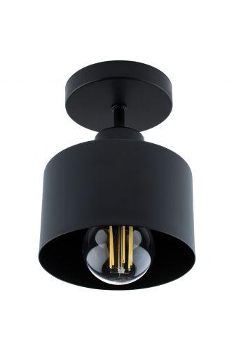 Lampa sufitowa TRAGULA czarna loft do LED 1xE27 LUMILED