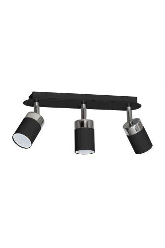 Lampa sufitowa JOKER czarna 3x GU10 MILAGRO Metal styl nowoczesny