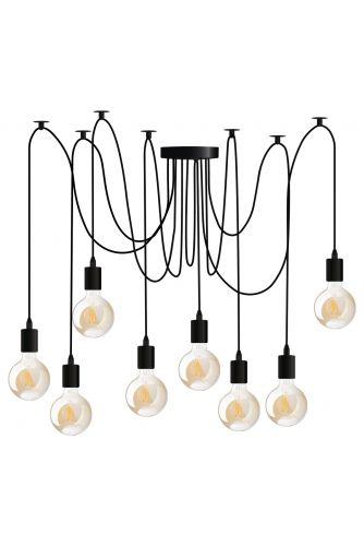 Lampa wisząca sufitowa ARANE PAJĄK 8 ramion do LED 8x E27 LUMILED