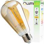 Żarówka LED E27 ST64 6W = 50W 660lm 2200K Ciepła 360° Filament LUMILED