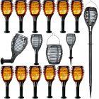 Zestaw 12x Lampa ogrodowa LED FLAME Solarna stojąca wbijana wisząca 60cm PŁOMIEŃ 1700K Polux