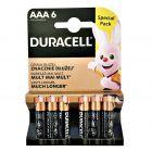 Baterie Alkaliczne Duracell Basic AAA LR03 MN2400 1.5V Blister 6szt