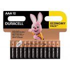 Baterie Alkaliczne Duracell Basic AAA LR03 Blister 12szt