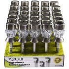 Zestaw 30x Lampa Ogrodowa LED Solarna Wbijana CRYSTAL RGB+W Satynowa Polux