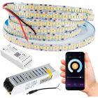 Taśma LED 120W SMD2835 Ciepła IP20 5m + Sterownik SMART TUYA WiFi + Zasilacz