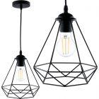 Lampa wisząca FILIS geometryczna ZWIS druciana loft do LED 1x E27 LUMILED