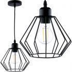 Lampa wisząca FILIS geometryczna ZWIS druciana loft do LED 1xE27 LUMILED