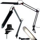 Lampka Biurkowa Kreślarska LED 7W 480lm 4500K 120° Czarna z Uchwytem