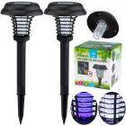 Zestaw 2x Lampa wbijana SZPIKULEC 43cm ogrodowa LED solarna UV odstraszająca owady
