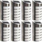 Zestaw 8x Lampa Ogrodowa LED elewacyjna solarna SAFFO czarno-biała 6000K zimna Polux
