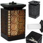Lampa LATARENKA ogrodowa LED solarna wisząca efekt płomienia 12x dioda SMD