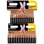 BATERIE ALKALICZNE DURACELL BASIC 12x AA LR6 + 12x AAA LR03