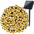 GIRLANDA SOLARNA 21,9m ogrodowa OZDOBNA 200x LED 3000K ciepła SHINE Polux