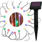Girlanda solarna ogrodowa lampki ogrodowe RGB 20szt przezroczysta czujnik zmierzchu Polux