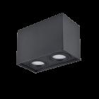Oprawa sufitowa natynkowa Hadar Q2 2xGU10 ruchoma prostokąt czarna