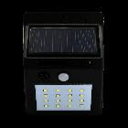 Lampa Ogrodowa LED elewacyjna solarna czarna 6400K zimna czujnik ruchu i zmierzchu Polux