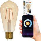 Żarówka LED E27 ST64  5,5W 470lm 1800K-2700K 320° Filament POLUX Smart WiFi TUYA