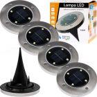 Zestaw 4x Lampka Ogrodowa LED 0,4W SOLARNA DOGRUNTOWA Wbijana IP54