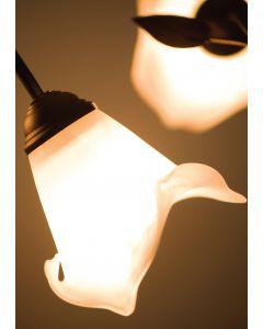 Lampa podłogowa Kłos Kwiaty 3xE27 Classic Retro Metal i szkło Lampex