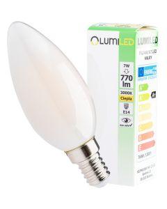 Żarówka LED E14 B35 7W = 60W 770lm 3000K Ciepła 360° Filament LUMILED