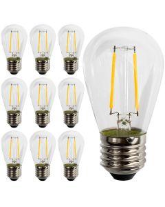 Zestaw 10x Żarówka LED E27 FILAMENT ST45 2W = 20W 190lm 2700K DO GIRLANDY