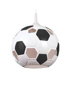 Lampa wisząca dziecięca Piłka nożna czarna 1x E27 football Ceramika Lampex