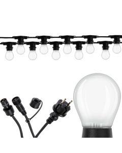 Girlanda Ozdobna Zewnętrzna Łańcuch 10m 10xE27 + Żarówki LED 2,5W OSRAM