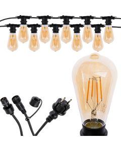 Girlanda Ozdobna Zewnętrzna Łańcuch Świetlny 10m 10xE27 LED 4W