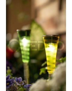 Zestaw 30x Lampa ogrodowa LED solarna BALANCE wbijana przezroczysta niebieska żółta fioletowa zielona Polux