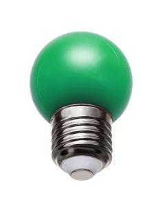 Żarówka LED E27 G45 1W ZIELONA 270° Spectrum dekoracyjna