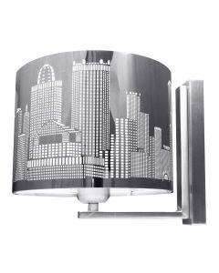 Kinkiet City Lampa ścienna 1x E27 Metal i stal nierdzewna Lampex Miasto Styl nowoczesny