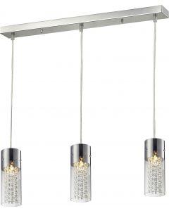 Lampa wisząca Torino 3L 3xE14 Metal i szkło Lampex