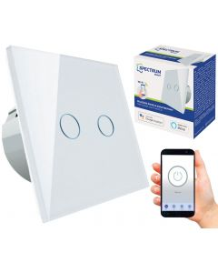 Włącznik światła dwustrefowy WiFi SMART max 2x 1000W 230V TUYA SPECTRUM