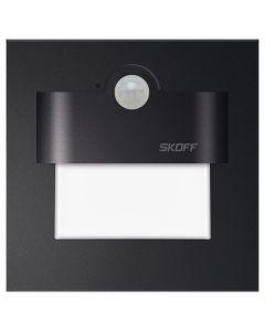 Oprawa Schodowa LED 2,4W 6500K 230V IP20 Czarny mat TANGO z Czujnikiem Ruchu Skoff