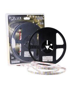 Taśma LED 10W 3300K Ciepła 1000lm 300LED SMD IP20 5m 120° POLUX