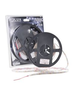 Taśma LED 10W 6500K Zimna 950lm 300LED SMD IP65 5m 120° POLUX