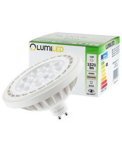 Żarówka LED ES111 GU10 15W = 100W 1521lm 4000K Neutralna 38° LUMILED