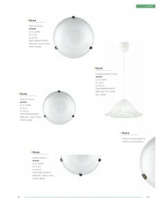 Plafon P1 Duna biała chrom 1xE27 Classic Retro Metal i szkło Lampex