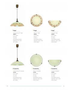 Plafon Lampa sufitowa P1 Haga 1x E27 Metal i szkło Lampex retro roślinny wzór