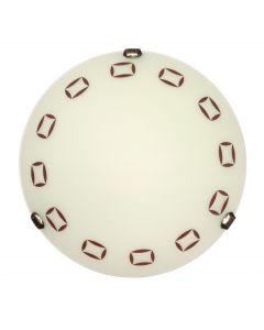 Plafon lampa sufitowa P1 Roma 1xE27 Classic retro Metal i szkło Lampex