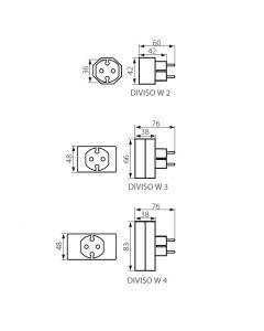 Rozdzielacz elektryczny DIVISO W 2 KANLUX BIAŁY - 26090